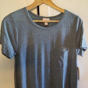 Lularoe carly dress xs gathered blue new